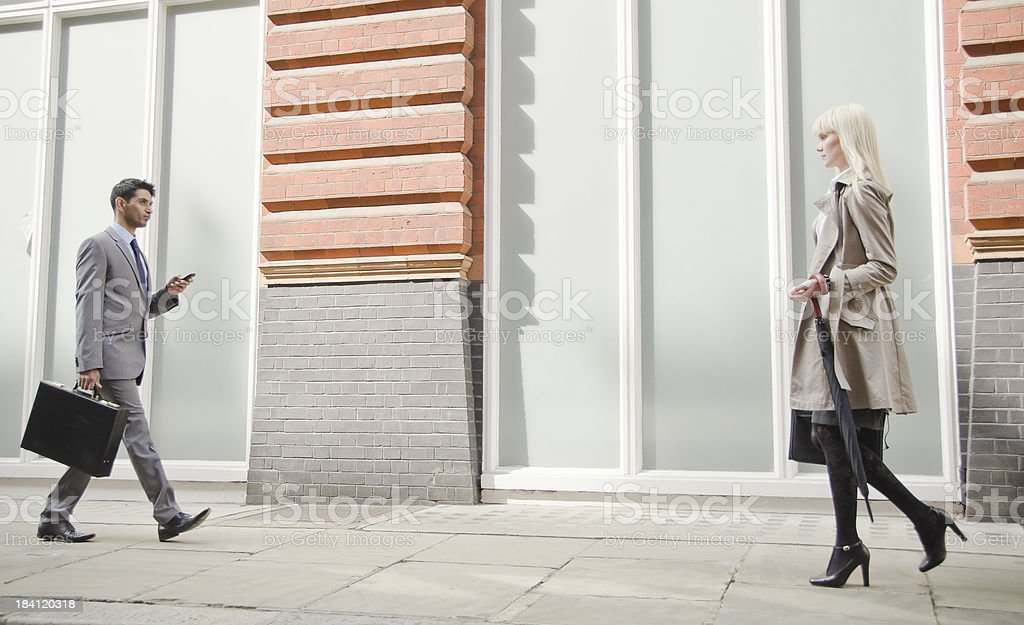 Business People on their way to work royalty-free stock photo