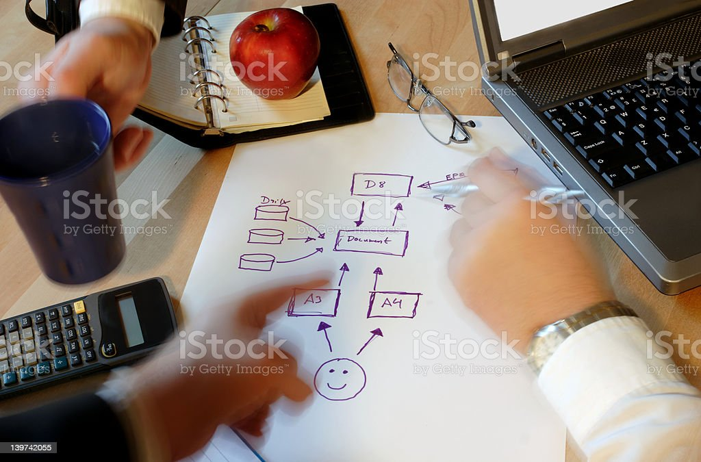 Business people planning royalty-free stock photo
