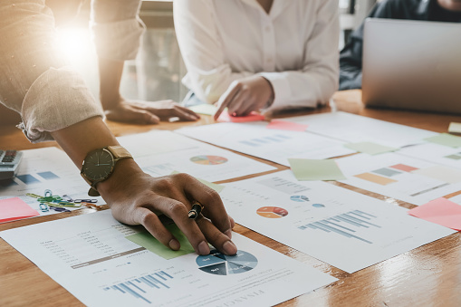 istock Business People Planning Strategy Analysis from financial document report, Office Concept 905049272