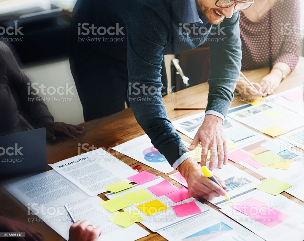 Business People Planning Strategy Analysis Office Concept stock photo