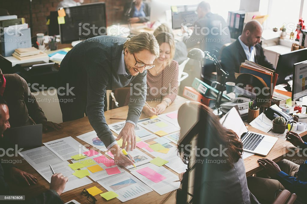 Business People Planning Strategy Analysis Office Concept royalty-free stock photo