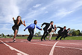 istock Business people racing on track 89285817