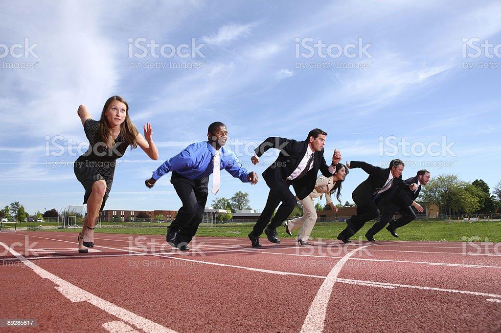 Business Personen-Rennen auf der Rennstrecke – Foto