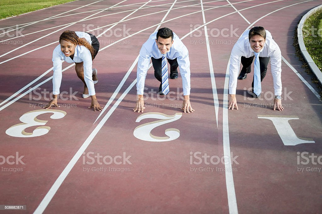 Business people racing stock photo