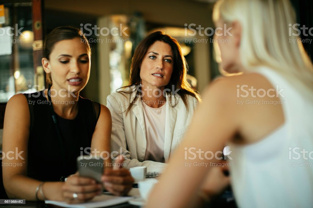 Business people relaxing after work royalty-free stock photo