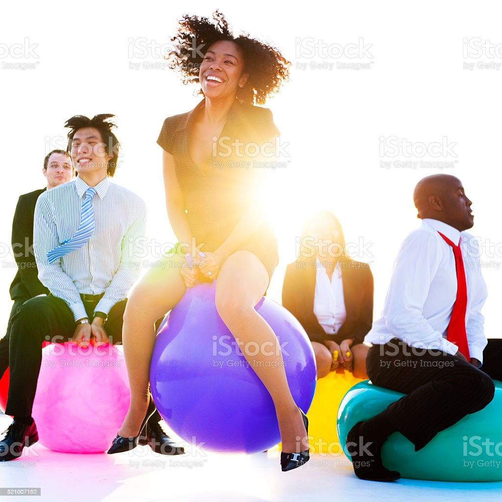Business People Relaxing and Having Fun Concept stock photo