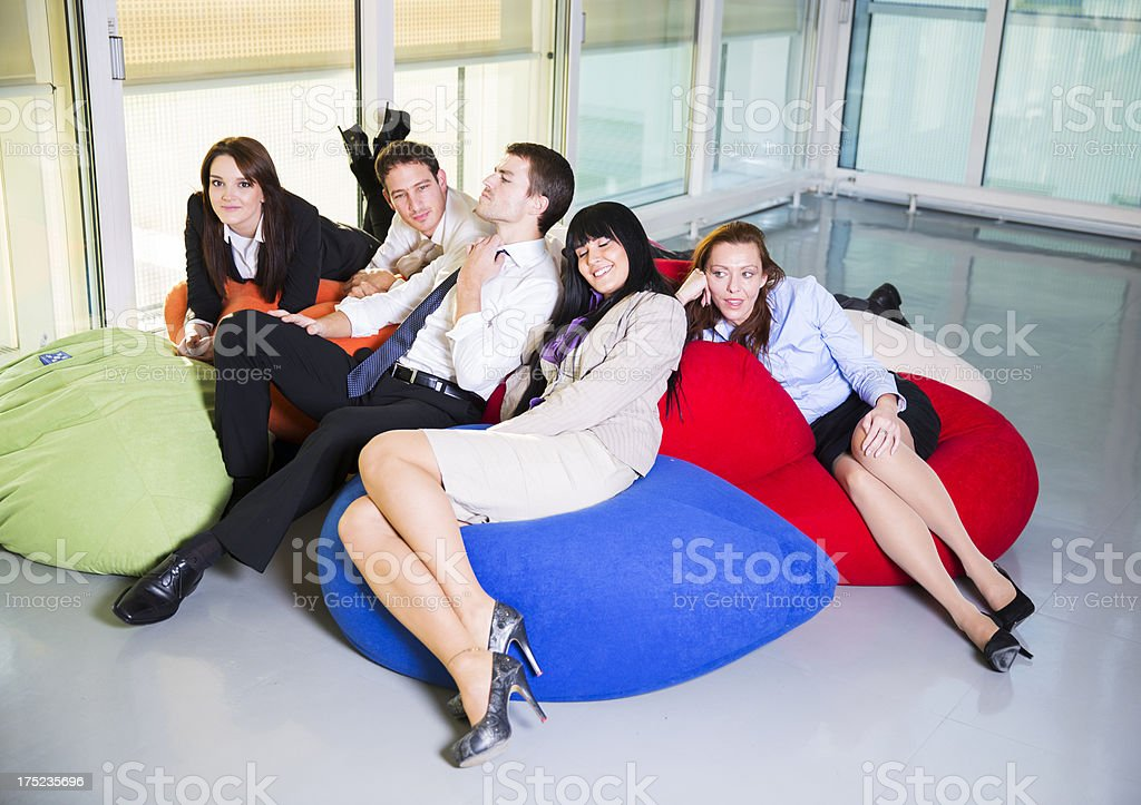 Magnificent Business People Relaxingchatting And Smilinglaying On Caraccident5 Cool Chair Designs And Ideas Caraccident5Info