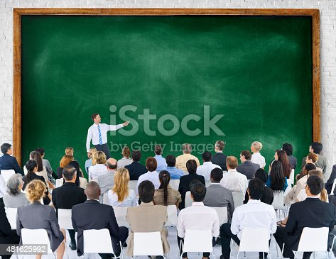 istock Business People Seminar Conference Meeting Presentation Concept 481625992