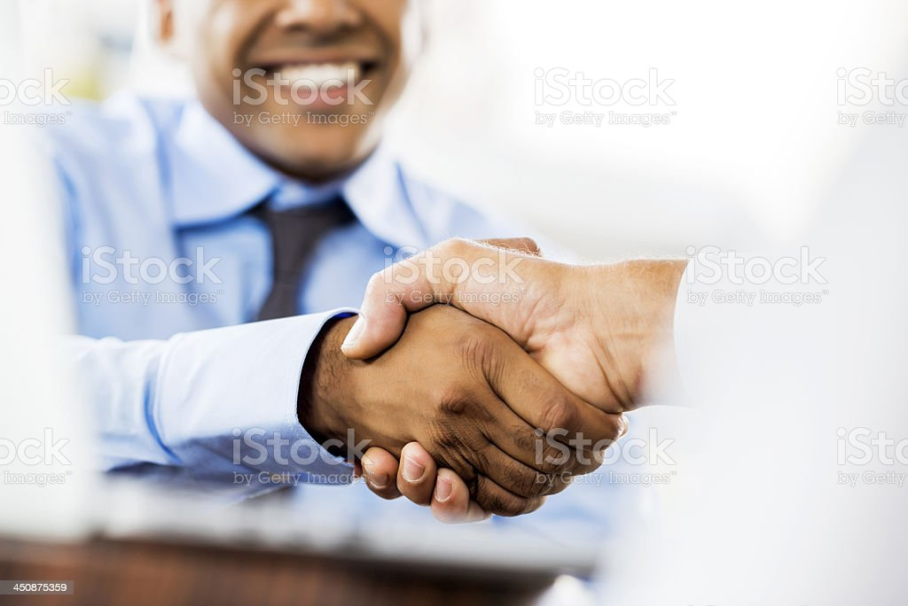 Business people shaking hands. stock photo