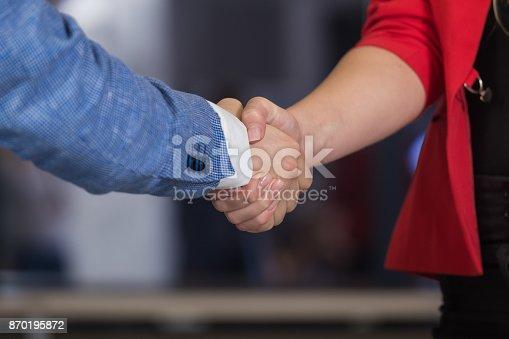 istock Business people shaking hands 870195872