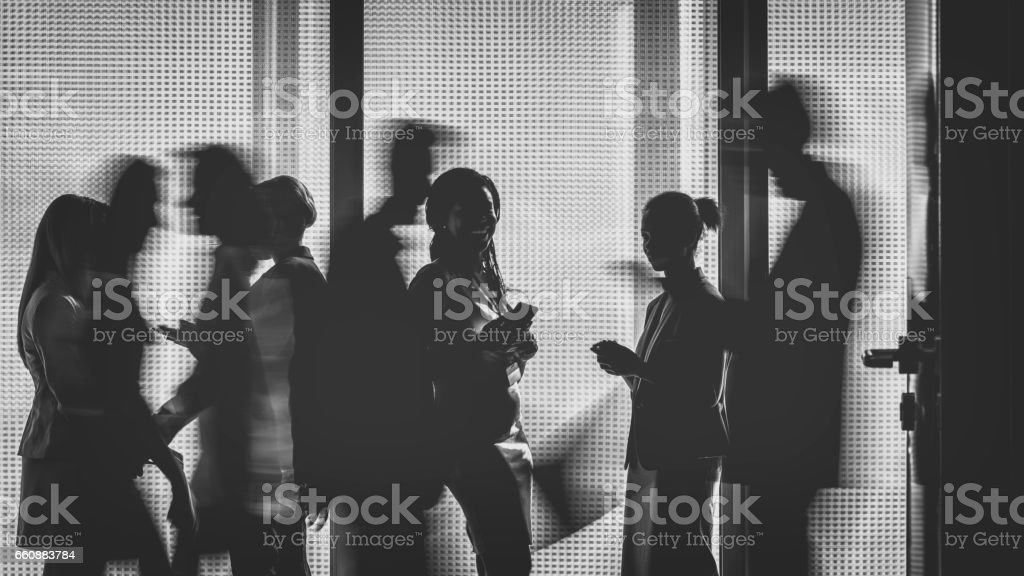 Business people silhouettes – Foto