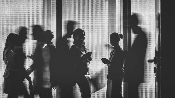 business people silhouettes - high contrast stock pictures, royalty-free photos & images