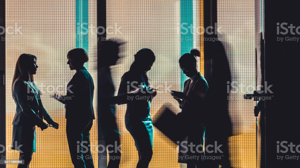 Business people silhouettes royalty-free stock photo