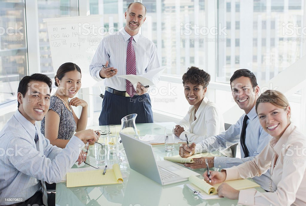 Business people sitting in meeting royalty-free stock photo