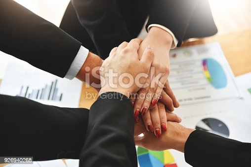istock Business people Stacking Hands. 926940268