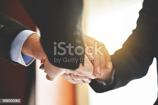 istock Business people Stacking Hands. 936300060