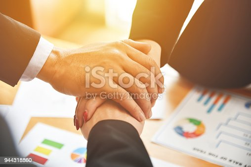 istock Business people Stacking Hands. 944318860