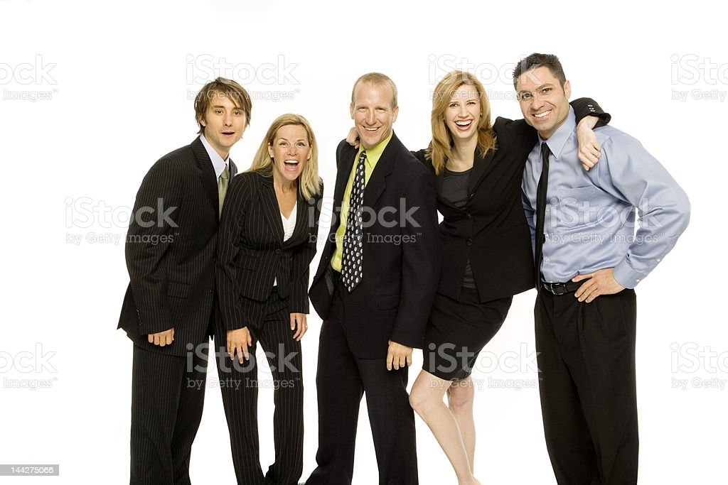Business people stand together royalty-free stock photo