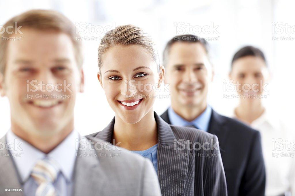 Geschäftsleuten stehen in einer Linie Lizenzfreies stock-foto