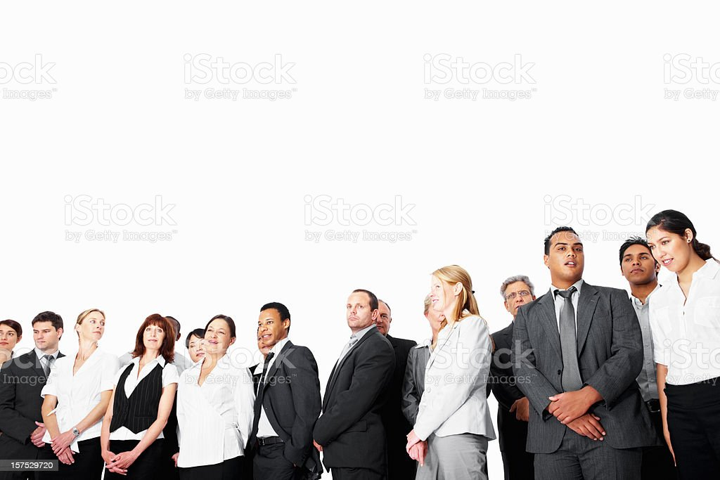 Business people standing together on white royalty-free stock photo