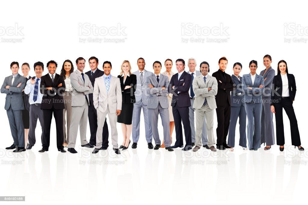 Business people standing up stock photo