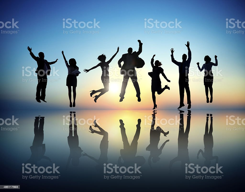 Business People  Succesful And Celebrating stock photo