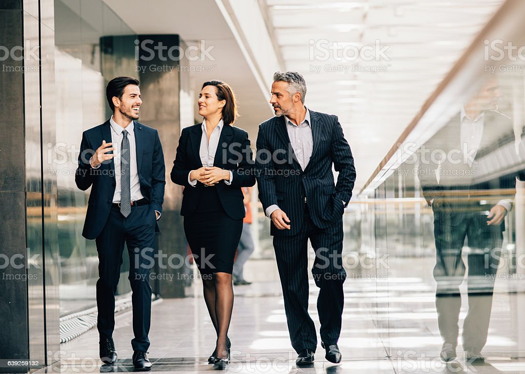 Business people taking a break stock photo