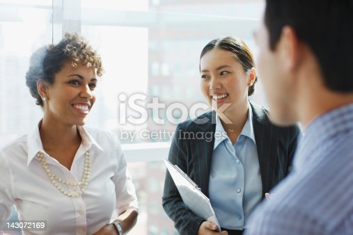 istock Business people talking in office 143072169