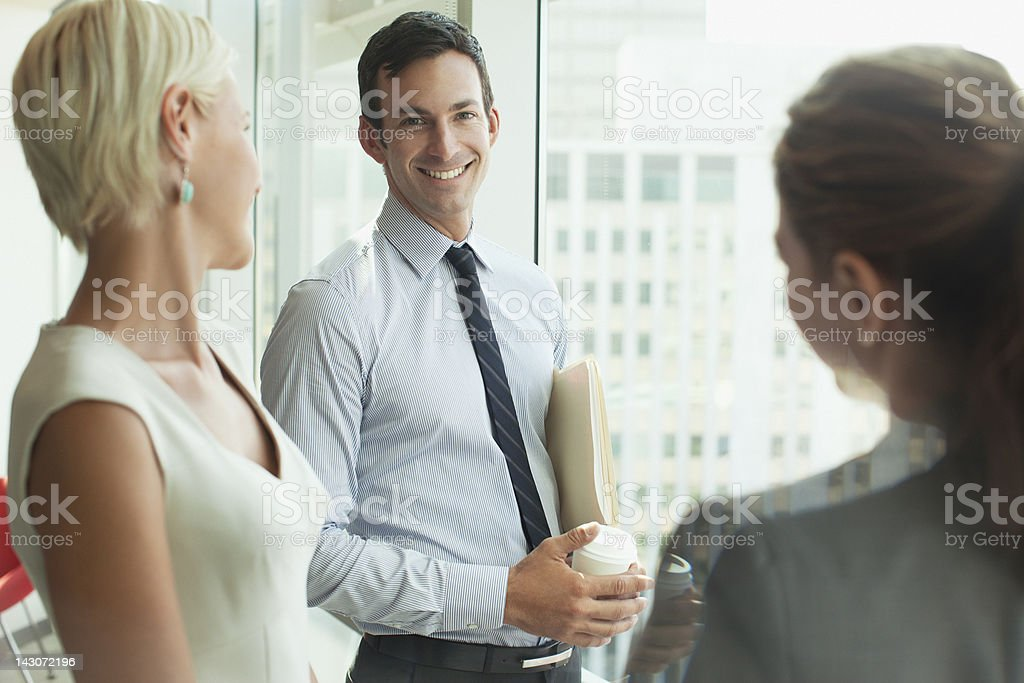 Business people talking in office royalty-free stock photo