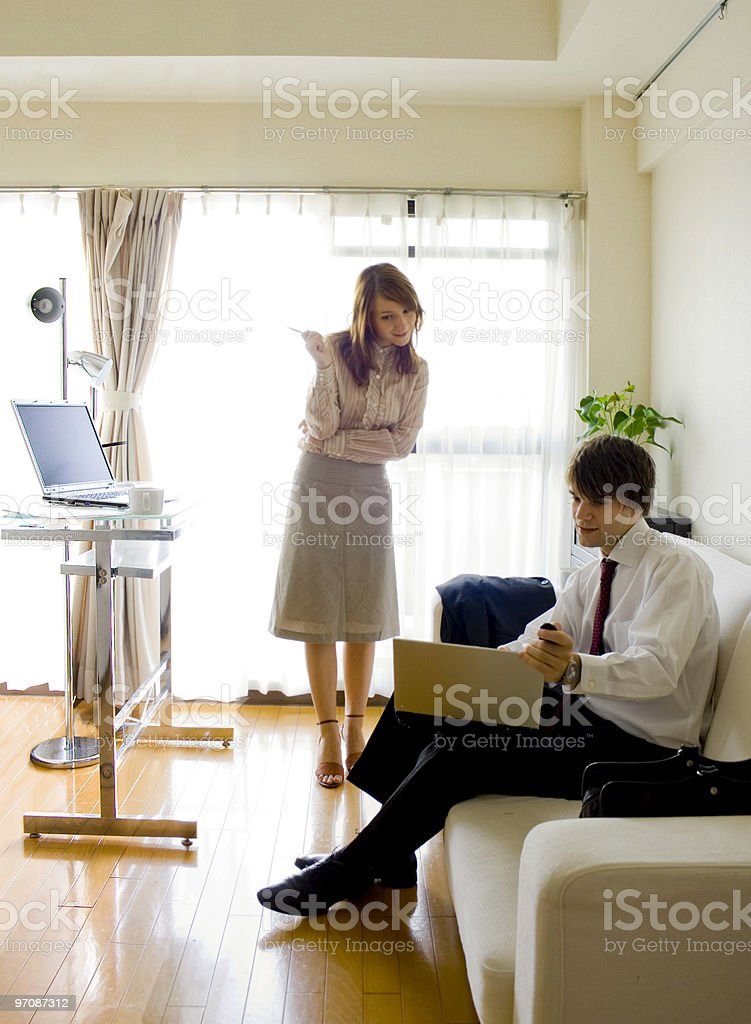 Business people talking over something royalty-free stock photo