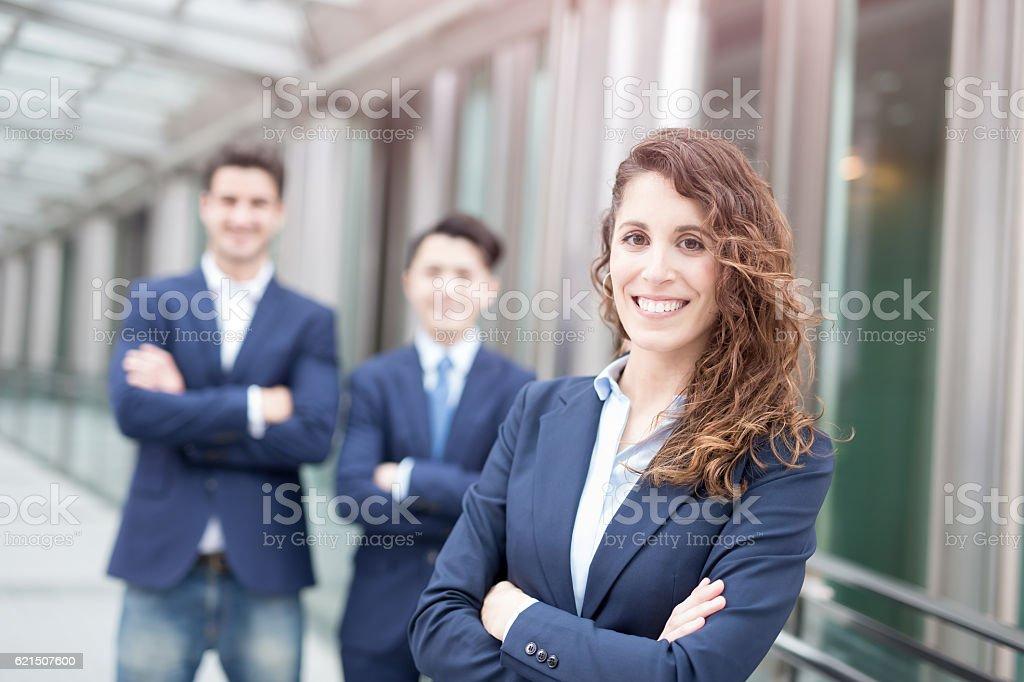 business people team crossed arm Lizenzfreies stock-foto