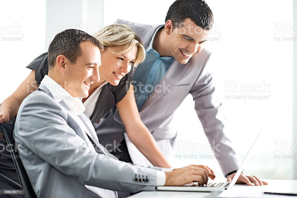 Business people using laptop. royalty-free stock photo