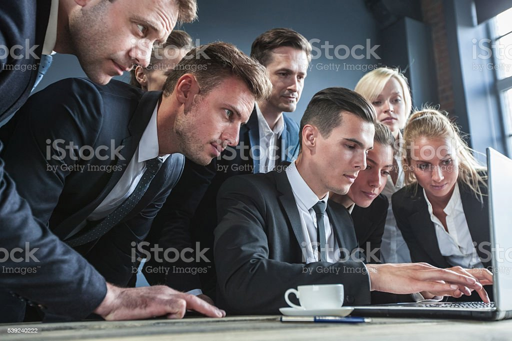 Business people using laptop royalty-free stock photo