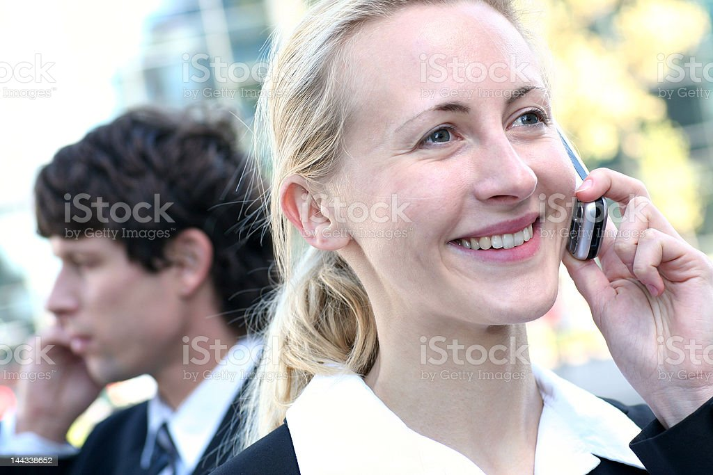 Business people using mobile phones royalty-free stock photo