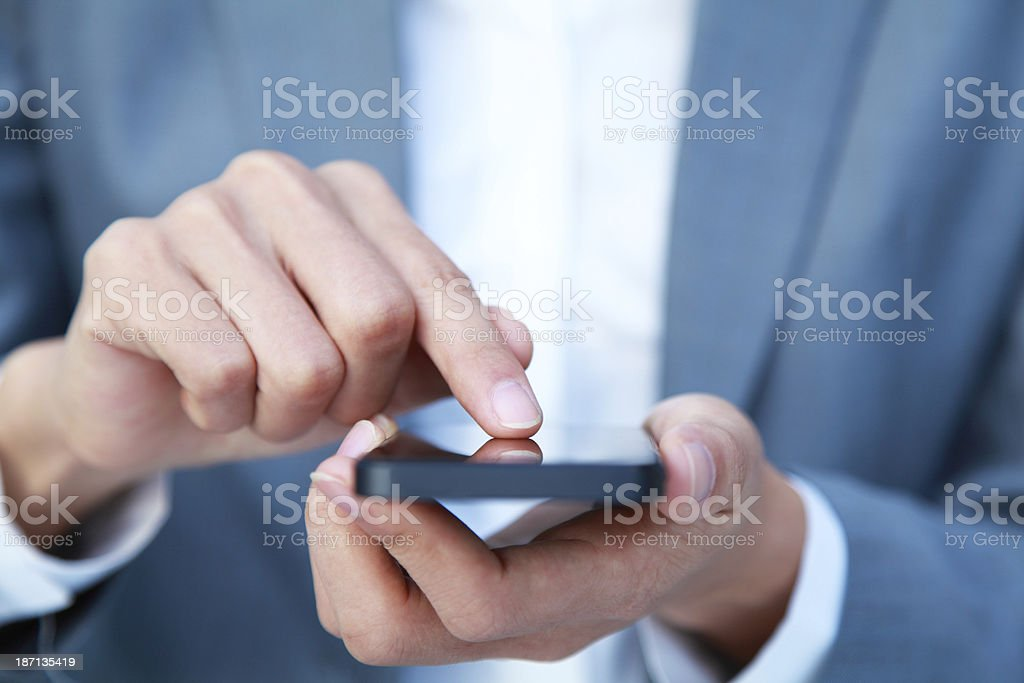 Business People Using Smart Phone royalty-free stock photo