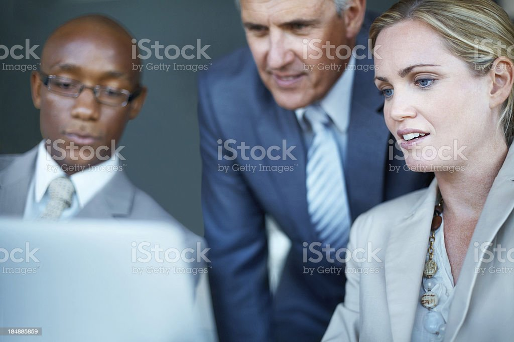 Business people using tablet PC royalty-free stock photo