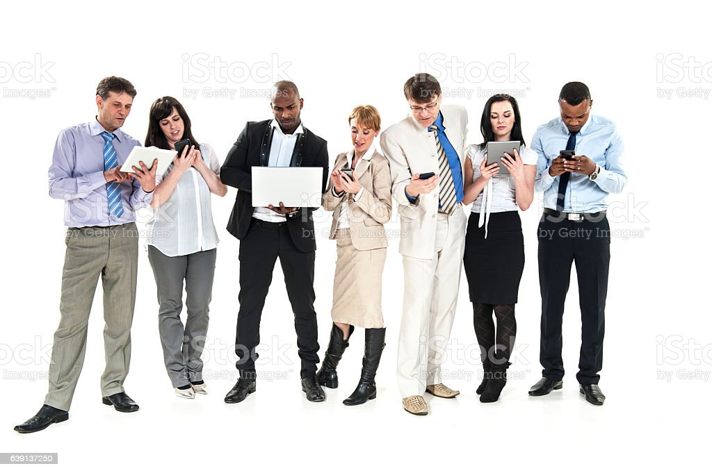 Technology Management Image: Business People Using Technology Stock Photo & More
