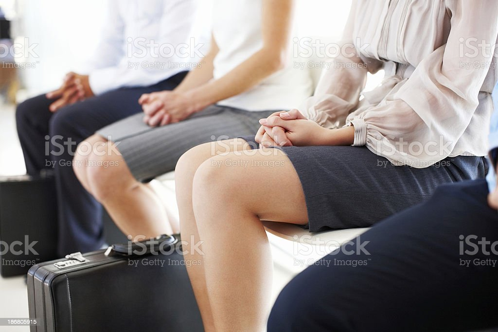 Business People Waiting to Be Interviewed royalty-free stock photo