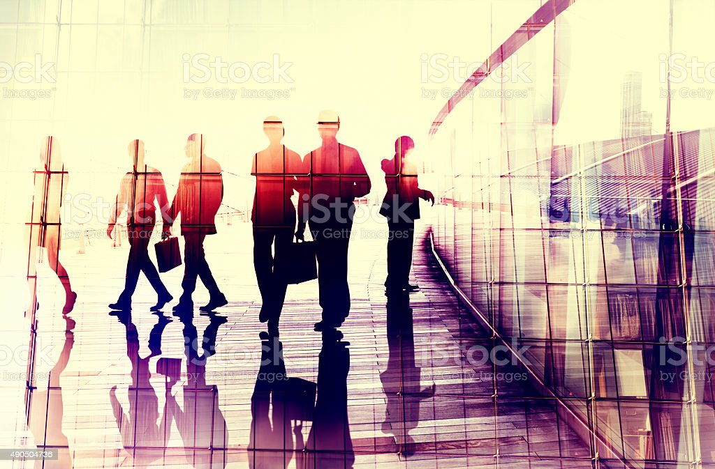 Business People Walking Commuter Gespräch Konzept - Lizenzfrei 2015 Stock-Foto