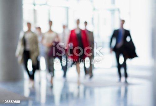istock Business people walking in lobby 103332688