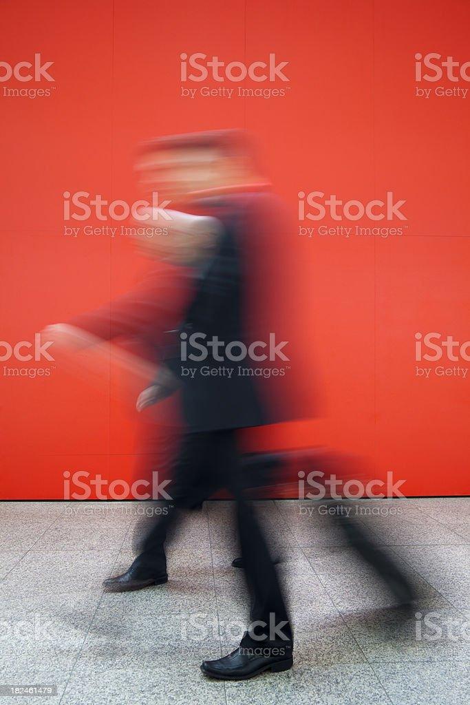 Business People Walking, Motion Blur royalty-free stock photo
