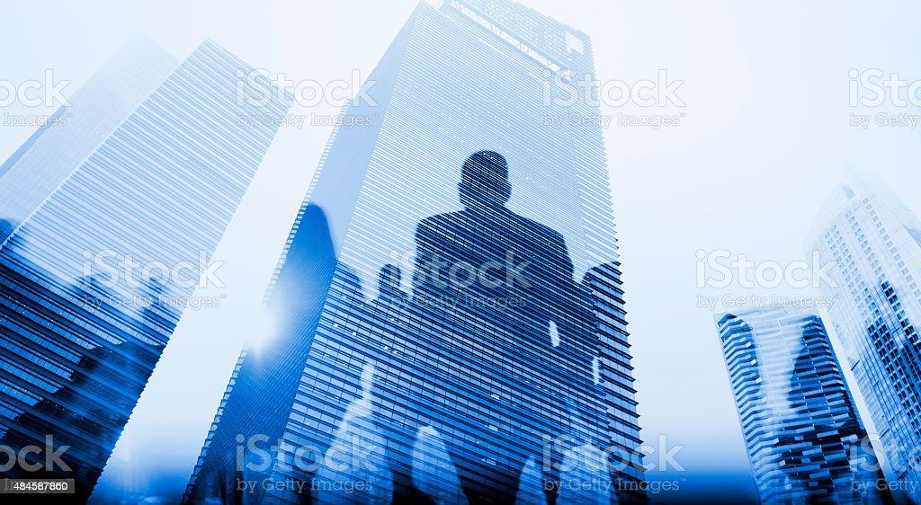 Business People Walkingn Commuter Pedestrian Cityscape Concept stock photo