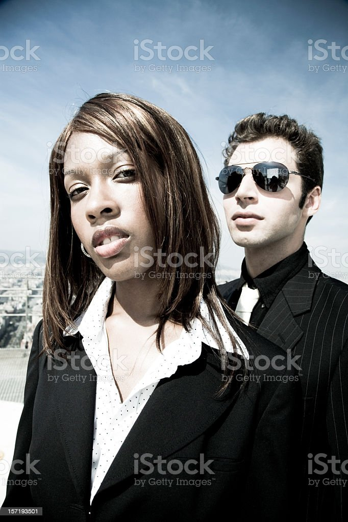 business people, welcome to the matrix III royalty-free stock photo