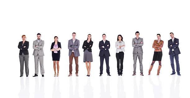 ビジネスの人々のクロス腕を白で分離。 ストックフォト