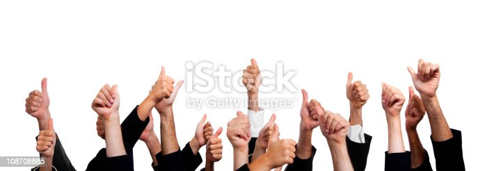 istock Business People with Thumbs Up on White Background. 108708885
