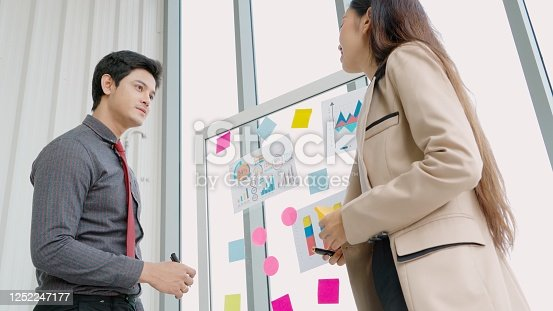 1059655118 istock photo Business people work on project planning board 1252247177