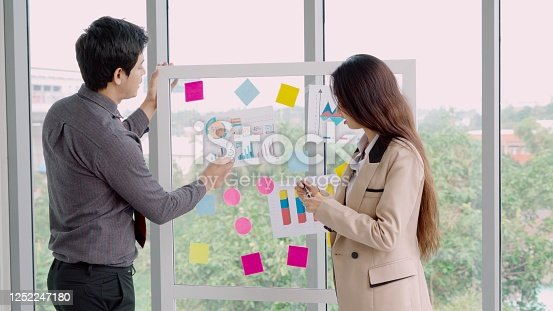 1059655118 istock photo Business people work on project planning board 1252247180