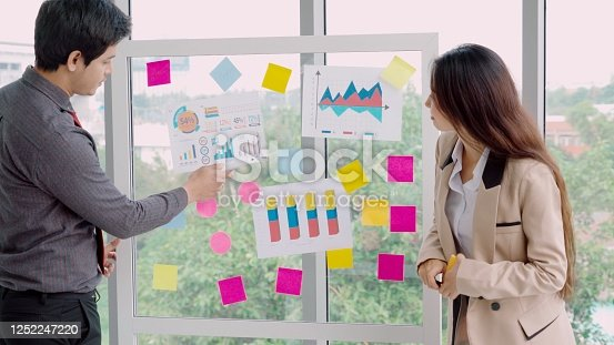 1059655118 istock photo Business people work on project planning board 1252247220