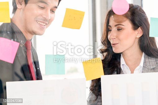 1059655118 istock photo Business people work on project planning board 1252247235