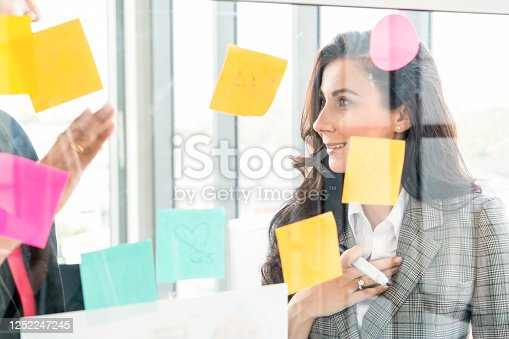 1059655118 istock photo Business people work on project planning board 1252247245